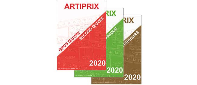 Bordereaux Artiprix 2020