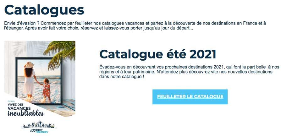 catalogue pro btp vacances