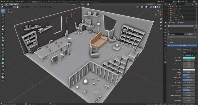 blender, logiciel d'animation
