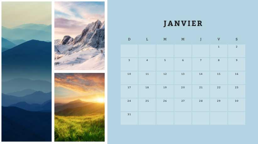 calendrier canva